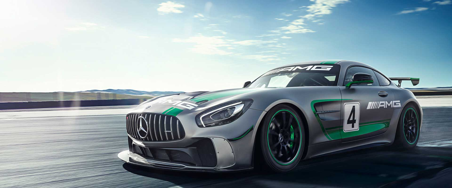 Race. Performance. Mercedes AMG GT4.